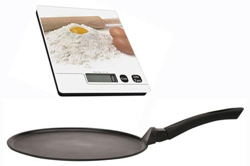 Set Util'home crêpière  30 cm (induction) + balance de cuisine 5 kg