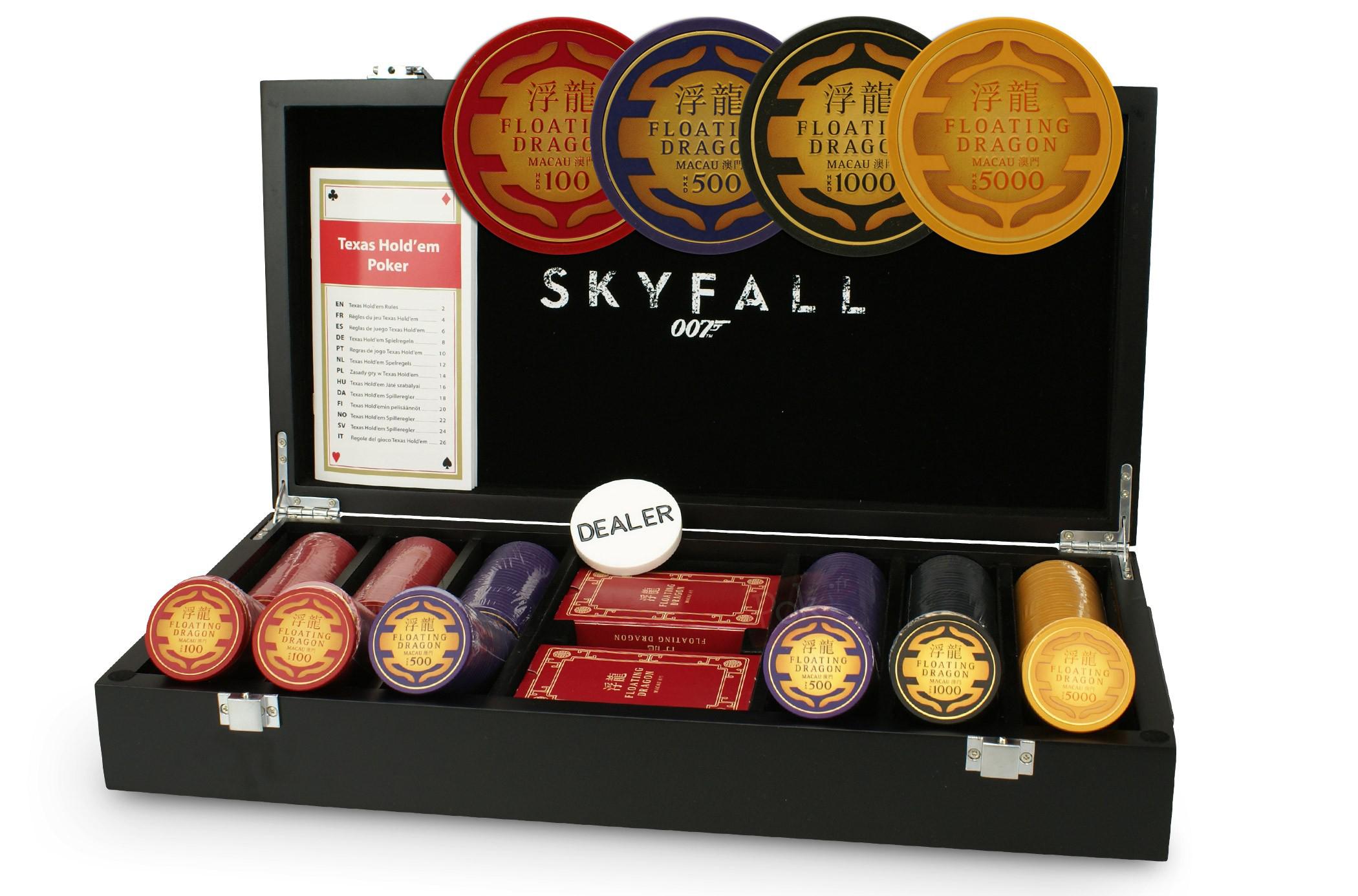 CARTAMUNDI Coffret poker luxe James Bond Skyfall