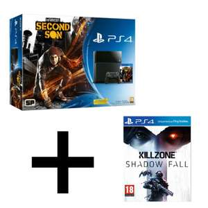 Console Sony PS4 + InFamous Second Son + Killzone Shadow Fall