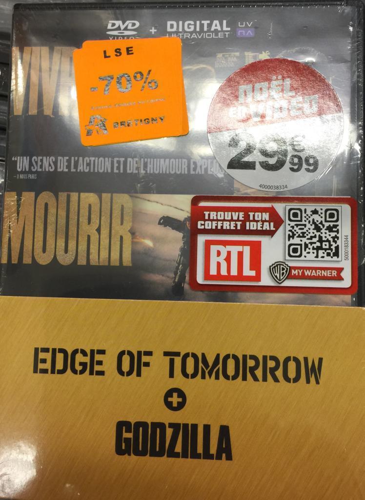 Coffret DVD Edge of tomorrow - Godzilla