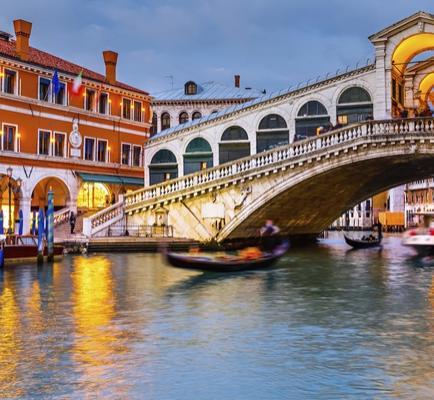 Sejour à Venise avec vol A/R au départ de Paris - 2, 3 ou 5 nuits à l'hotel Delfino 4*,