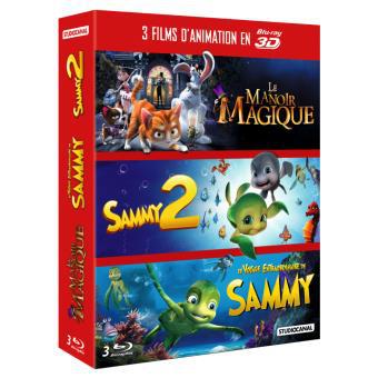 Coffret Blu-ray 3 films 3D:  Le manoir magique, Sammy 2, Le voyage extraordinaire de Sammy