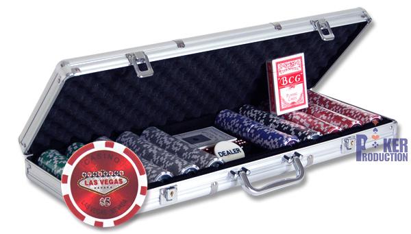 Mallette Poker en aluminium 500 jetons