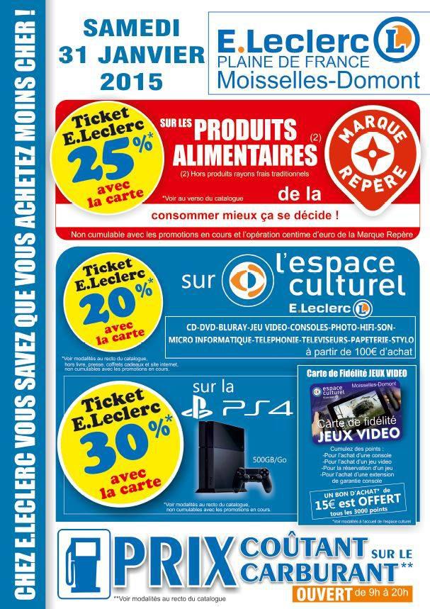 Console Sony Playstation 4 (30% sur la carte fidélité)