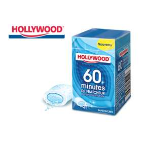 2 lots de 3 paquets de chewing-gum Hollywood 60 minutes de fraîcheur