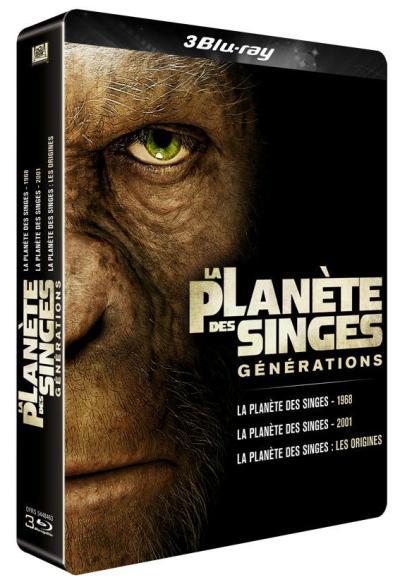 Coffret Blu-ray La Planète des singes : les versions 1968, 2001 et 2011 [Édition Limitée SteelBook]