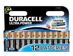 4 packs de 12 Piles Duracell Ultra Power LR03 ou LR6 gratuits (50% sur carte, 50% ODR)