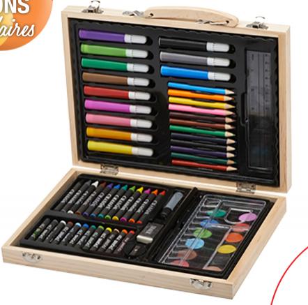 Coffret  de coloriage en bois (67 éléments)