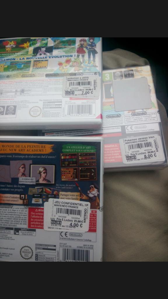 Sélection de jeux Nintendo DS/3DS en promo