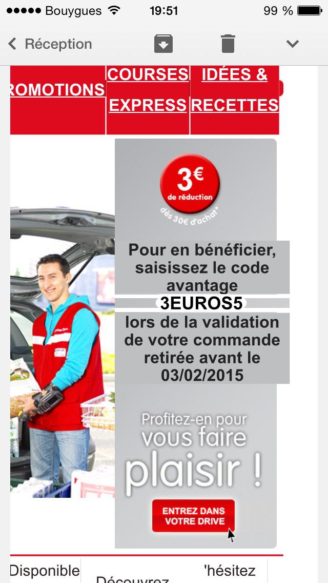 3€ de réduction dès 30€ d'achat Faches-Thumesnil