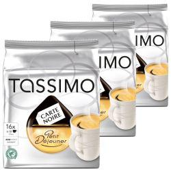 3 paquets de dosettes Tassimo Carte Noire