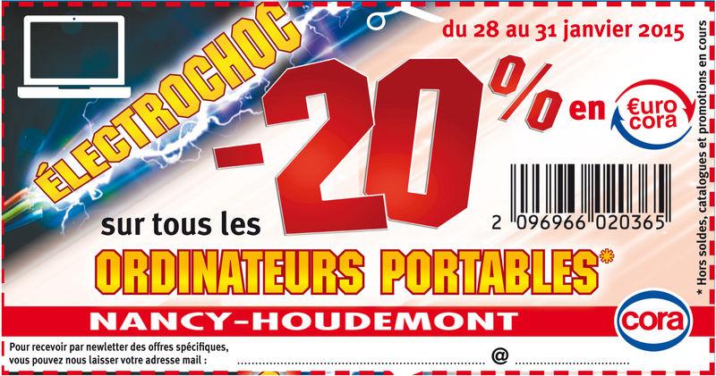-20% en €urocora sur l'article de votre choix (TV, PC, Electroménager, etc)