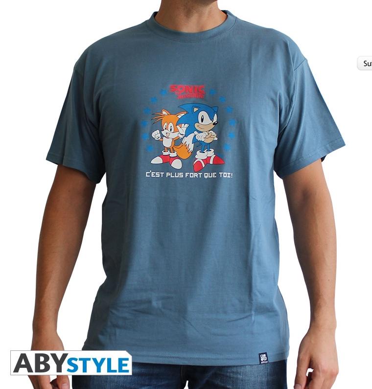 Sélection de T-shirt en promo - Ex : T-shirt homme Sonic C'est + fort que toi (M, L, XL)