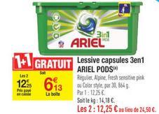 Lot de 2 Lessives en capsules Ariel  3 en 1