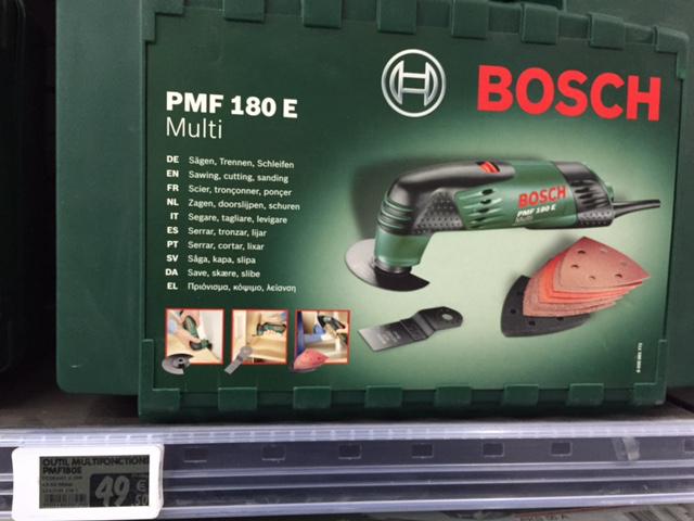 Outil multifonction PMF 180 E Multi Bosch