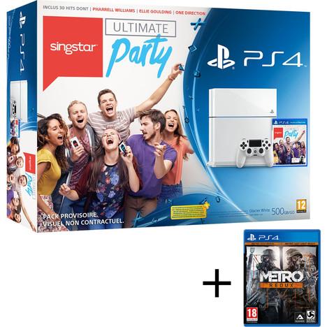Pack PS4 Blanche ou Noire + 2 jeux