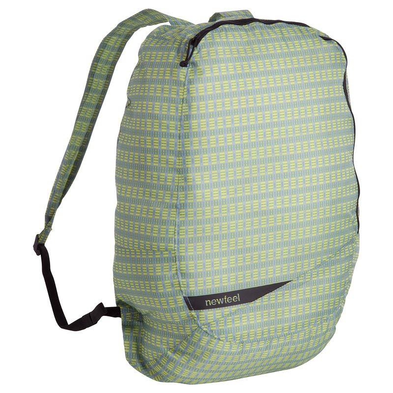 Petit sac à dos pliable Newfeel Pocket Bag jaune/gris
