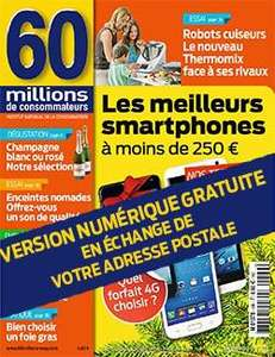 Version numérique du numéro 499 de 60 Millions de consommateurs gratuite
