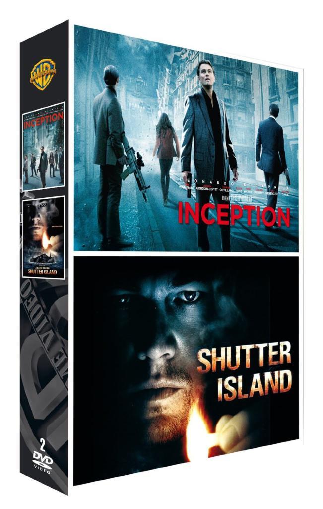 DVD Inception + Shutter Island