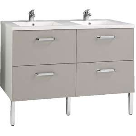 Ensemble salle de bain Vogue : Sous vasque + double plan vasque