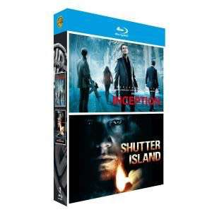 Coffret Blu-ray Inception + Shutter Island -