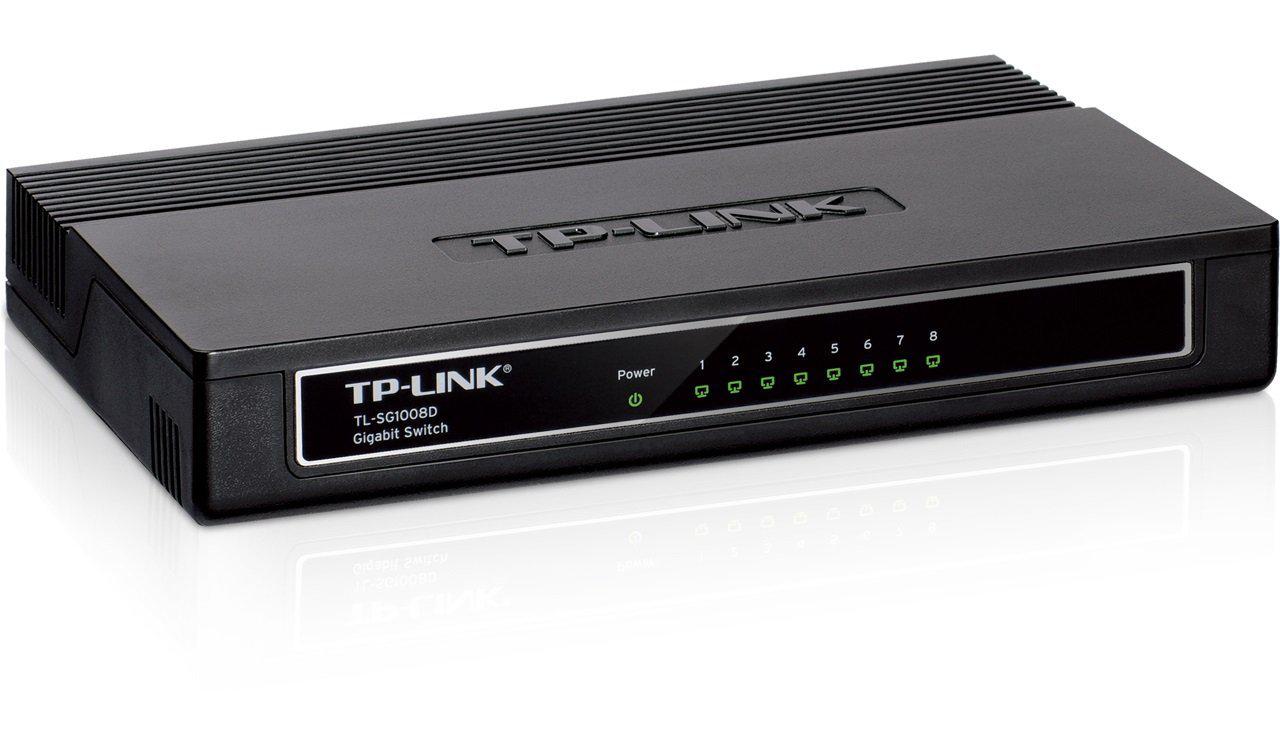 Switch 8 ports Gigabit 10/100/1000 Mbps TP-Link TL-SG1008D