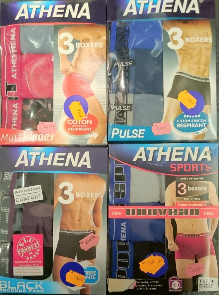 Lot de 3 Boxers Athena (tous modèles)