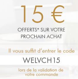 15€ de réduction dès 30€ d'achat