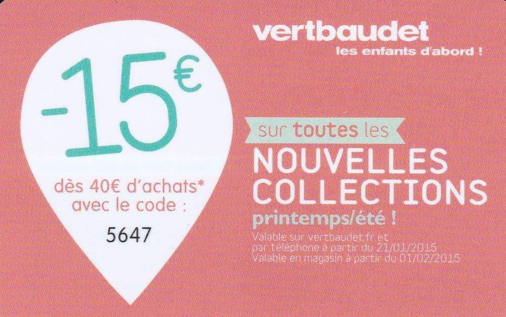 -15€ dès 40€ d'achat sur les nouvelles collections printemps-été 2015