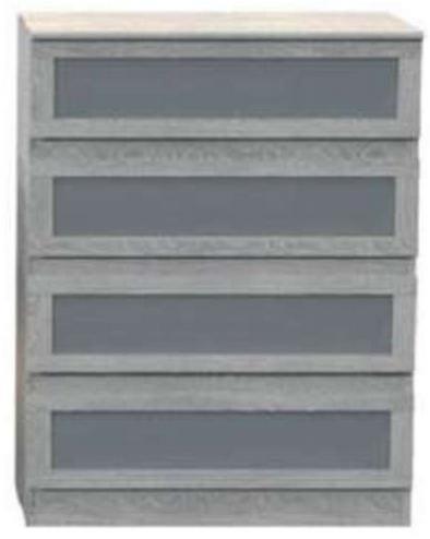 Commode 4 tiroirs Verso coloris chêne