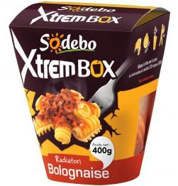 Xtrem Box Sodebo de pâtes - Différents parfums (remise immédiate + BDR)