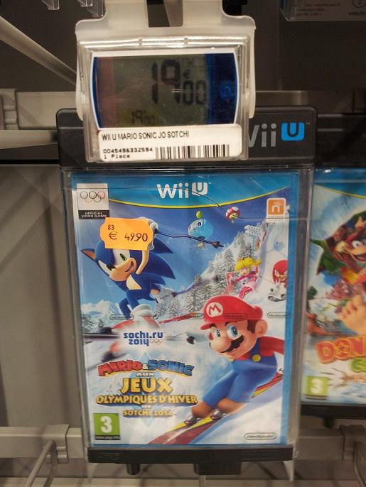 Mario et Sonic aux JO de Sotchi 2014 sur wii U