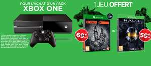 Console Xbox One Blanche + Sunset Overdrive + Evolve ou HALO The Master Chief Collection