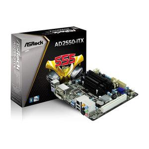 Carte mère ASRock AD2550-ITX avec CPU Intel Atom integré