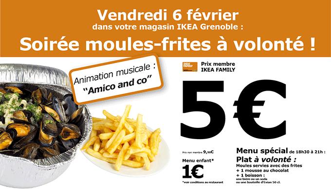 [Ikea Family] Moules frites à volonté avec dessert et boisson