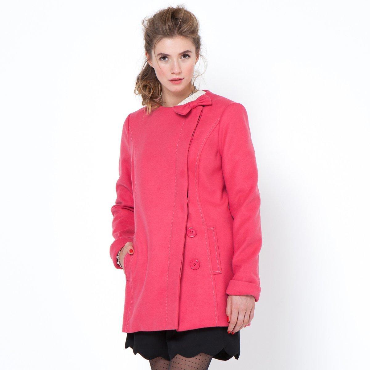 Manteau femme Mademoiselle R avec nœud à l'encolure