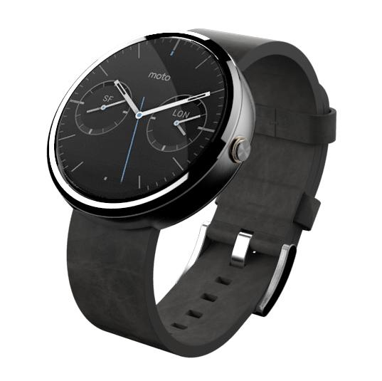 Montre Connectée Motorola Moto 360 - Noire ou Grise  (avec ODR 50€)