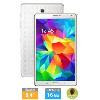 """Tablette Samsung Galaxy Tab S 8.4"""" Wifi 16 Go Blanche (50€ ODR)"""
