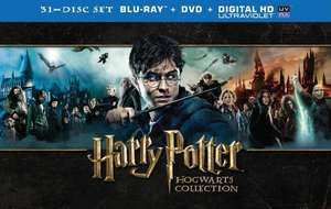 Harry Potter Hogwarts Collection (Blu-ray + DVD) - 31 discs