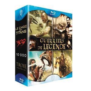 Coffret Blu-Ray: Le choc des titans + 300 + 10 000 + Troie
