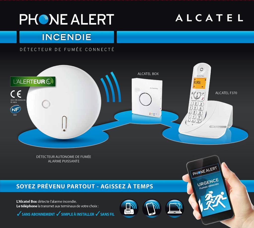 Kit d'alarme incendie SHD Alcatel AudioBox Phone Alert (50% crédités sur la carte fidélité)