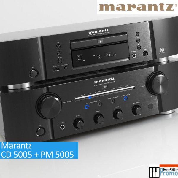 Pack Marantz Lecteur CD 5005 + Amplificateur stéréo PM 5005