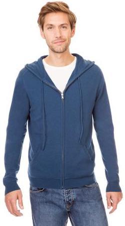 Cardigan avec zip et capuche en cachemire - Homme