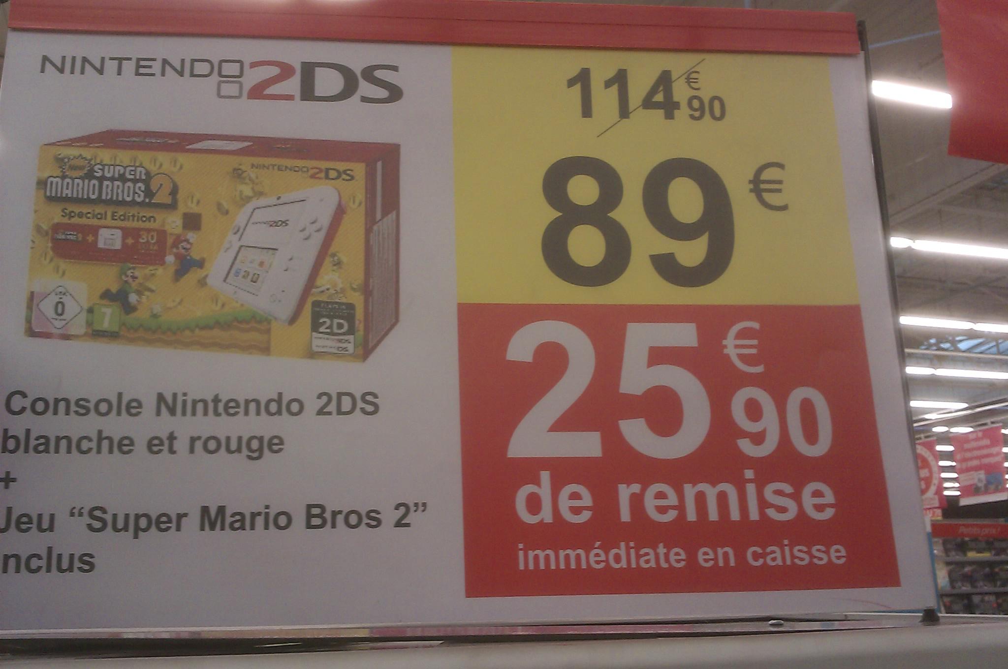 Pack Nintendo 2DS Super Mario Bros 2 Special Edition - Blanc/Rouge