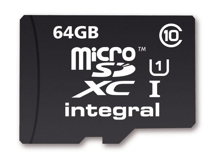Carte mémoire MicroSDXC Integral 64Go UltimaPro 40Mo/s - Classe 10 UHS-I