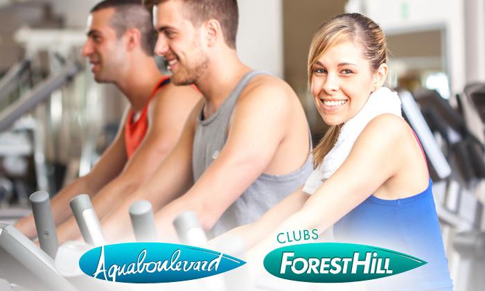 Accès illimité pendant 1 an  à toutes les activités des 9 clubs Forest Hill dont l'Aquaboulevard