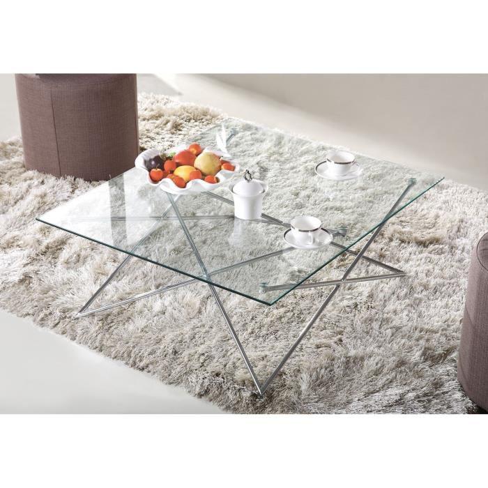 Table basse en verre (90 x 78,4 x 35 cm) Cristal