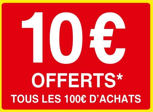 Darty Days Flash : 10€ offerts en carte cadeau tous les 100€ d'achats