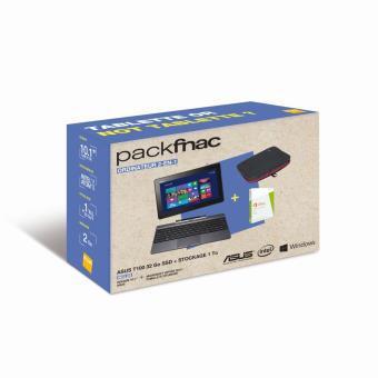 """Pack Tablette 10.1"""" Asus T100TA-DK090H 1 To + Housse + Microsoft Office 2013 (+ 40€ en chèques cadeaux)"""