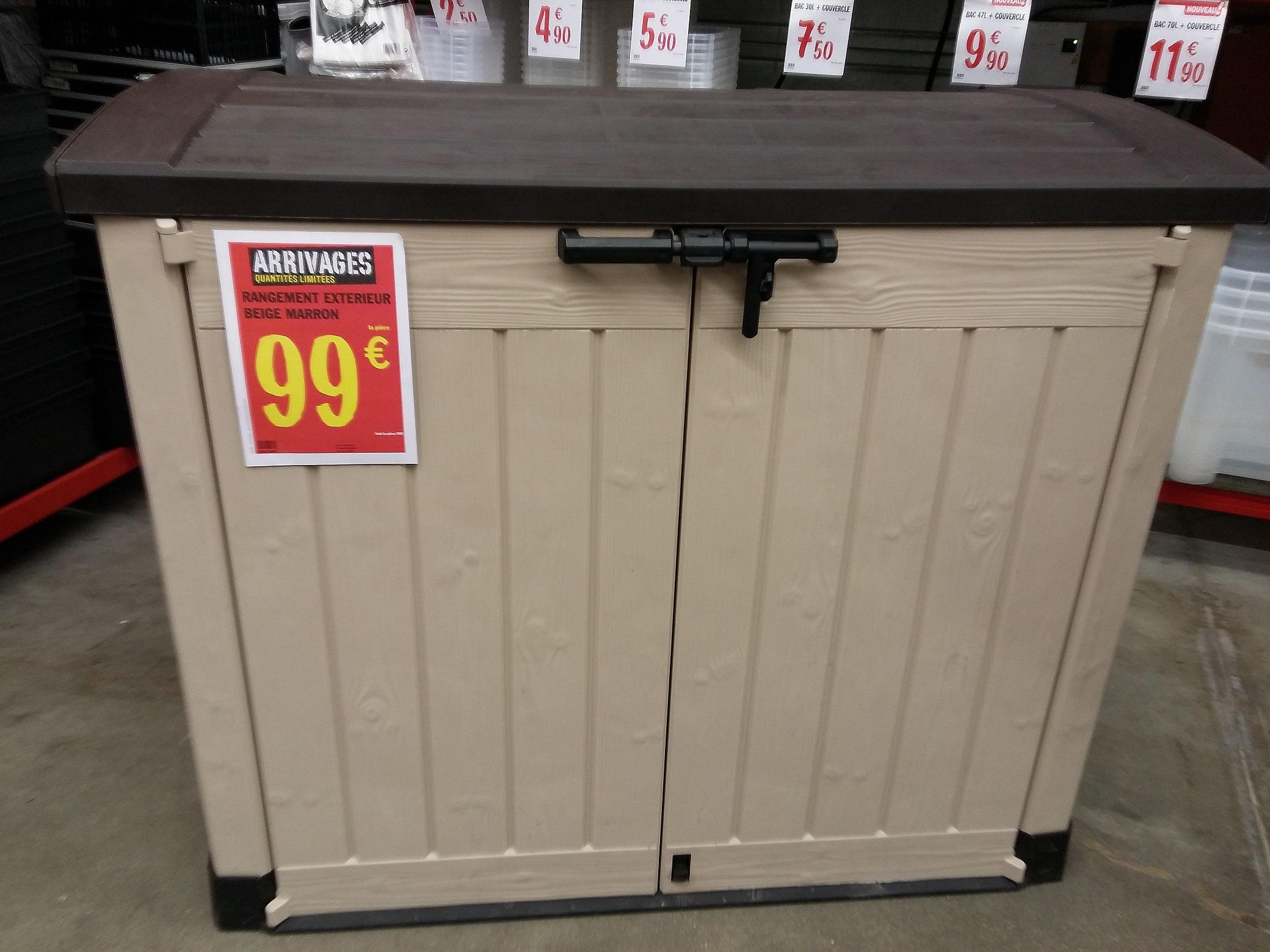 Coffre de jardin Keter 845L à 99€ au lieu de 200E en magasin @ Brico-Depot